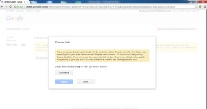 Google Disavow tool submit file