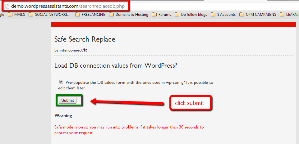 run search replace mysql