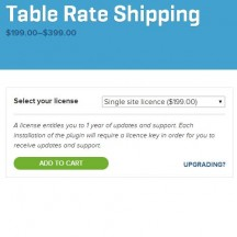 woocommerce table rate shipping extentsion